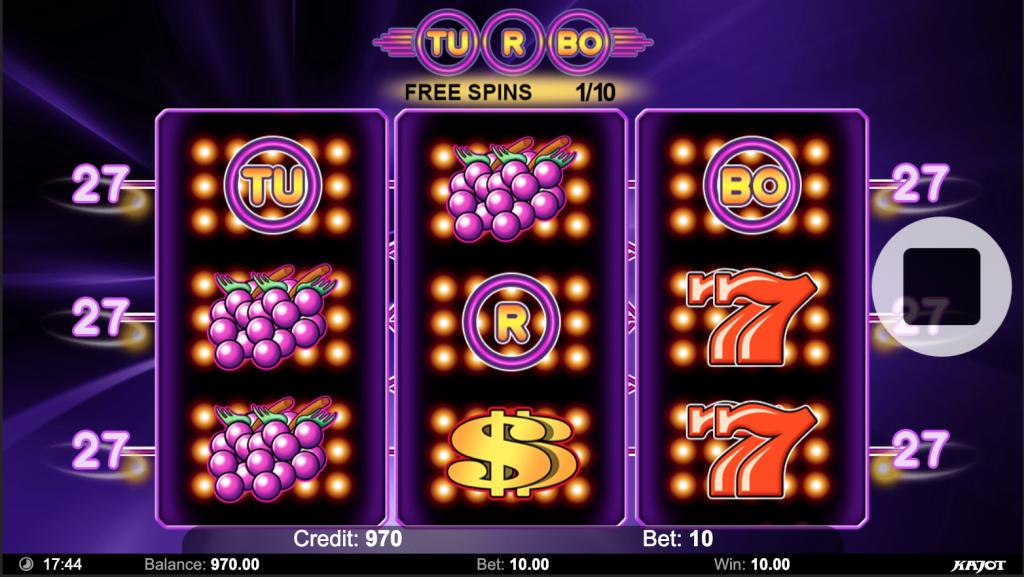 turbo 27 Bonusové symboly